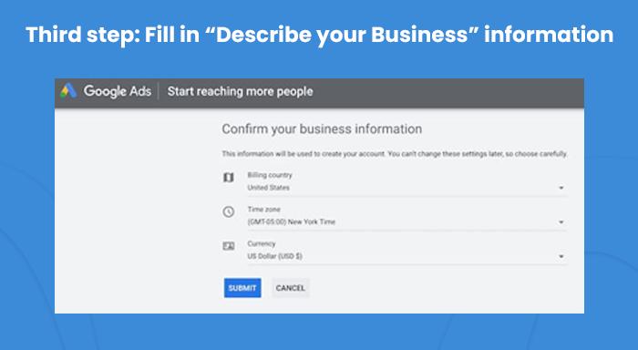 Google Ads Business Information